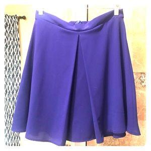 Cobalt blue mini skirt, high waisted